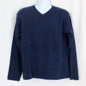 NWT Blue Bear USA Blue 100% Lambswool Sweater